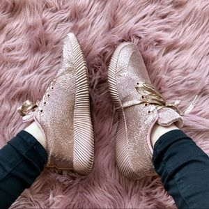 Rose Gold Textured Sneakers
